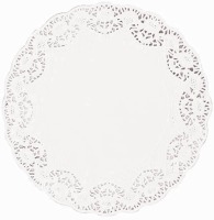 "8"" White Doilies Round 28 CT"