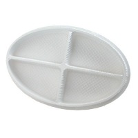 "9"" Oval Box White W/Clear Lid"