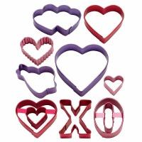 9-PC Valentine Cookie Cutters