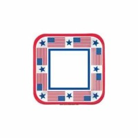 "9"" SQ Patriotic Plates 40 CT"