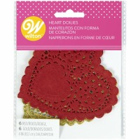 Assorted Heart Doilies 12 CT