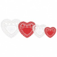 Assorted Valentines Doilies 40
