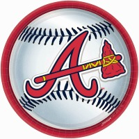 "Atlanta Braves 9"" Plates 18 CT"