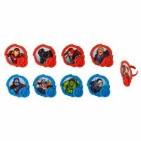 Avengers Cupcake Rings 12ct
