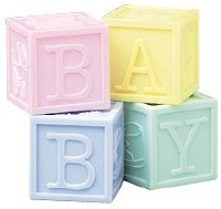 BABY BLOCKS FAVOR CONTAINERS