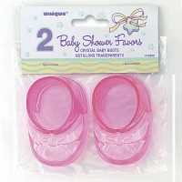 "Baby Boots 3"" Pink 2 CT"