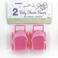 Baby Carriages Pink 2 CT
