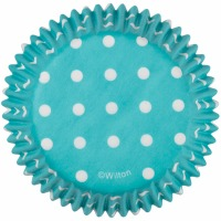 Baking Cup Blue w/ Dots 75 Count