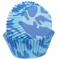 Baking Cup Camo Blue 75 CT