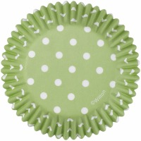 Baking Cup Green w/ Dots 75 Count
