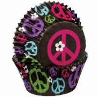 Baking Cups Peace Sign 75 CT