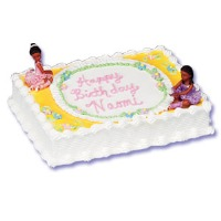 Ballarina Cake Kit African American Set of 2 Cake Topper
