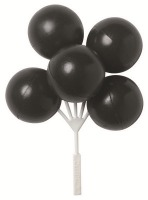 Balloon Clusters Black 3 CT