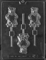 Bear Holding Heart Lolly Mold