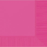 Beverage Napkin 50 CT Bright Pink