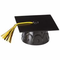 Black Grad Cap With Tassel