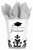 Black & White Grad 9 OZ Cup 18CT