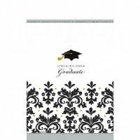 Black & White Grad Paper Table Cover