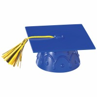 Blue Grad Cap with Tassel
