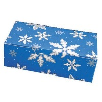 Blue Snowflakes Candy Box 1 LB