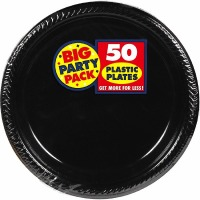 "BPP PL 7"" Plate 50 CT Black"