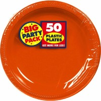 "BPP PL 7"" Plate 50 CT Orange"