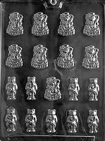 Bride & Groom Bears Mold