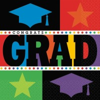 Bright Graduation Lunch Napkin 125 CT