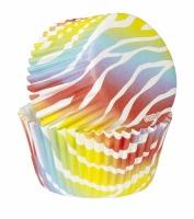Bright Zebra Cupcake Wrappers