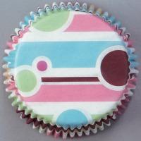 Bubble Stripe Standard Baking Cups 75 CT