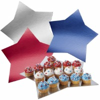 Willton Cake Board Stars Design - 3 Pack