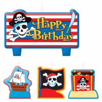 Candle Set-Pirate Treasure 4PC