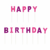 Candles Pick HBDAY Pink 13 CT
