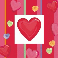 Candy Heart Lunch Napkin 30 CT