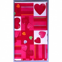 Candy Heart Plastic Tablecover