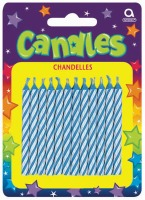 Candy Stripe Candle Blue 24 CT