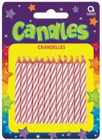 Candy Stripe Candle Pink 24 CT