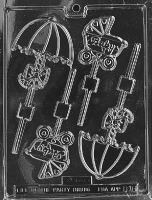 Carriage & Umbrella Lolly Mold