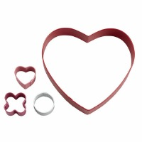 Cookie Cutter Box Set Circle Heart Game 4-Piece
