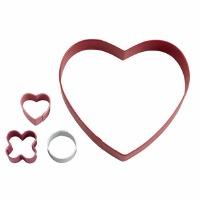 Cookie Cutter Box Set Circle Heart Game 4-Piece