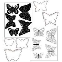 Cookie Cutter Texture Mat Combo - Butterfly