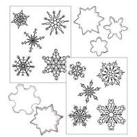Cookie Cutter Texture Mat Combo - Snowflake