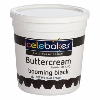 Celabakes Booming Black Buttercream Icing 14 oz.