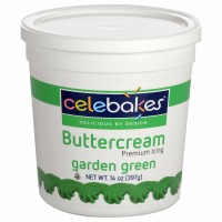 Celebakes Green Buttercream Icing 14 oz.