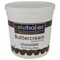 Celebakes Chocolate Buttercream Icing 13 OZ.