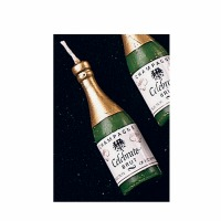 Champagne Bottle Candles 6 CT