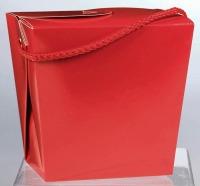 Chinese Pail Quart Red