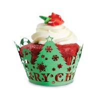 Christmass Tree Cupcake Wraps