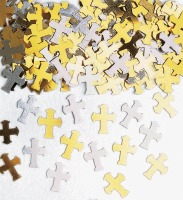 Confetti Silver & Gold Crosses