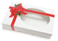 Cookie Box Ribbon & Holly 1 LB